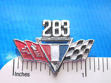 283 Chevy flags engine - hat pin , lapel pin , tie tac , hatpin GIFT BOXED (E)