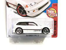 Hot Wheels '90 Honda Civic EF (white) - w/Real Riders SUPER CUSTOM