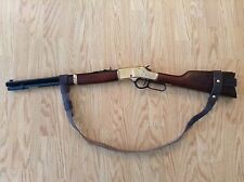 "3/4"" Leather NO DRILL Rifle Sling For Henry Rifles. ***Brown"" Leather***"