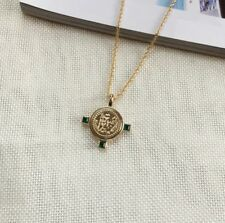 Gold Roman Cross Emerald Coin Necklace Mango Other Bloggers Stories Trend