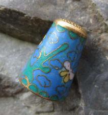 Ditale Thimble CLOISONNE SMALTO farfalla fiori nuvole OTTONE? bene f34