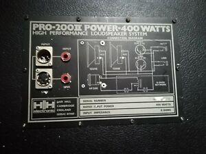 HH ELECTRONICS PRO 200 speaker 400w