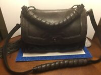 Cynthia Rowley distressed brown leather purse