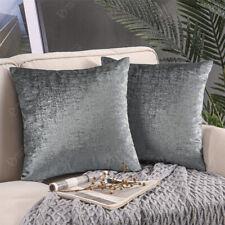 Cushion cover grey silver decorative pillowcase sofa couch silver foil printed