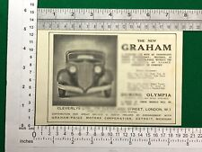 Graham motor car Graham-Paige Detroit Michigan vintage advert from 1933