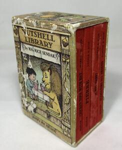 Nutshell Library 4 Hardcover Mini Books By Maurice Sendak 1962 No Dust Jacket