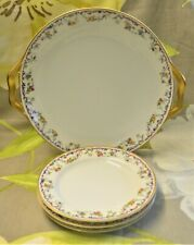 Haviland Limoges 1 x Sandwich Bread Plate 3x Tea Side Plates T Litherland Ashby