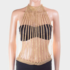LUXE Statement Gold Mesh Crystal Choker  Necklace Body Chain By Rocks Boutique