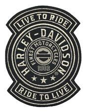 Harley-Davidson Embroidered Harley Shield Emblem Patch, SM 3.75x4.75in. EM278122