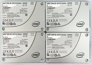 """4 x Used INTEL DC S3710 400GB 2.5"""" SATA SSD SSDSC2BA400G4 Solid State Drive"""