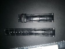 Authentic IWC Black Alligator Watch Strap Band Long L 20mm x 18mm Tang OEM New!