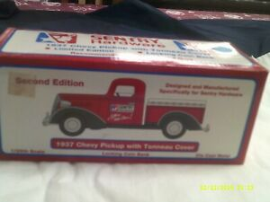 NIB Liberty Classics 2nd Edition 1937 Chevy Pickup with Tonneau Cover-Sentry Hdw