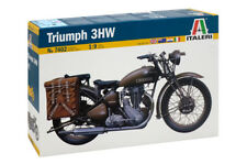 Italeri 7402 Triumph 3hw Motorcycle Plastic Kit 1 9th Scale TRACKED 48 Post