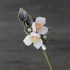 Copper Flower Hairpin Hair Stick Kanzashi Vintage for Hanfu Kimono Cheongsam