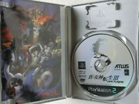 Shin Megami Tensei 3 III Nocturne PS2 ATLUS Sony Playstation 2 From Japan