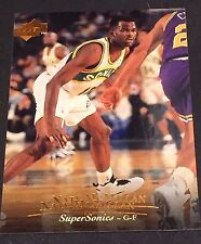 NATE MCMILLAN 1995-96 Upper Deck ERROR Double Name Logo RARE Card #29 SONICS