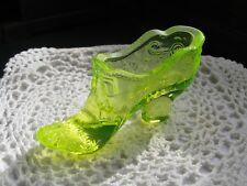 Mosser Glass - Vaseline Bow Slipper