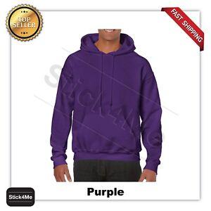 man's GILDAN Heavy Fleece BLANK  Hooded Sweatshirt Hoodie G18500  S-5XL