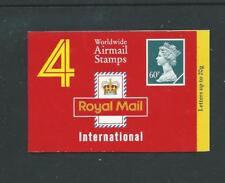 Gq1, Type 6D, 4 X 60p, Airmail Barcode Booklet