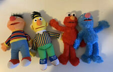 Plush Sesame Street Burt Ernie Elmo Grover Lot -4