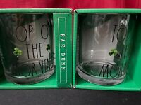 """Rae Dunn """"TOP OF THE WORLD"""" Drinking Glasses Great for St. Patrick's Day"""