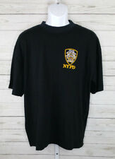 NYPD Police Department New York Mens Embroidered Navy T Shirt Ss XL Badge Logo