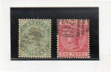 Gibraltar Monarquias Valores del año 1886-98 (DI-442)
