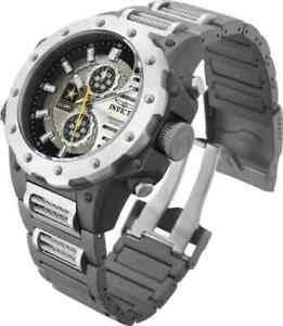 MEN'S InvictA  U.S. ARMY TITANIUM GUNMETAL 32986 50MM Lightweight watch NEW