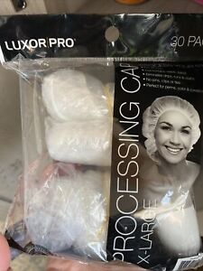 Processing Caps Coloring Perm Shower Vinyl Extra Large 25ct Clear #3542