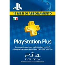PlayStation Plus (PS+) - Abbonamento 12 Mesi 365 GIORNI - Italia