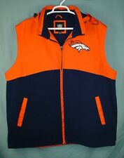 DENVER BRONCOS G-III NFL PRO LINE HOODED MENS FOOTBALL JACKET VEST SIZE XXL
