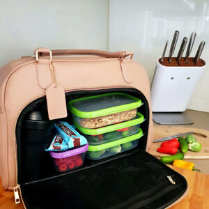 Mealami Meal Prep Handbag (Cinnamon)   Management Laptop Bag Travel Gym