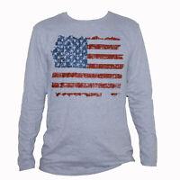 Rétro Rayures Drapeau USA Imprimer manches courtes T Shirt