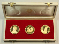 Vatican City Italy Pope John XXIII & Paul VI 90% Gold Three Medal Coin Set Box