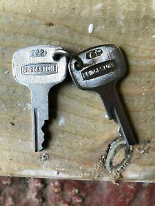 Bridgestone motorcycle keys ..new genuine