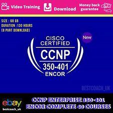 CCNP ENTERPRISE 350-401 ENCOR COMPLETE 40 COURSES - VIDEO TRAINING