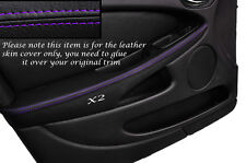 PURPLE STITCH 2X FRONT DOOR ARMREST SKIN COVERS FITS JAGUAR X TYPE 01-09