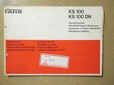 Deutz Fahr KHD KS100 KS100 DN KS 100 Hay Tedder Haymaker rake parts manual
