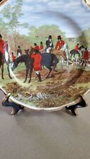 Crown Victorian The Famous Herring Hunting Scene Fine Bone China Plate