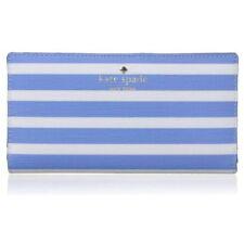 NWT KATE SPADE Stacy Fairmount Square Alice Blue/Cream Bifold Wallet