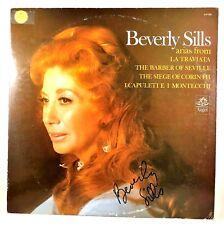 SIGNED Beverly Sills LP - Opera Arias Angel 37255 Vinyl NM with lyrics insert
