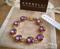 SORRELLI Medium Cushion Cut Classic Bracelet in ULTRA RUBY - BCY57BGUR NWT $100