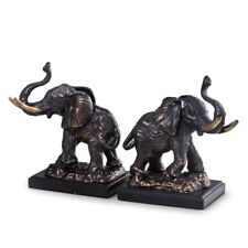 "BOOKENDS - ""AFRICAN SAFARI"" ELEPHANT BOOKENDS - BOOK ENDS"