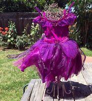 DISNEY STORE UK VIDIA TINKERBELL PURPLE FAIRY FAIRIES COSTUME DRESS GIRL XXS 2 3