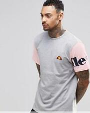 ELLESSE MENS SAN GEMINI T SHIRT - GREY / PINK - SMALL - RRP £25 - SALE *BNWT*