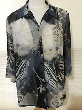 Mirrors Woman 3/4 Sleeve Blouse Size 20