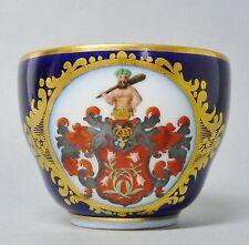 (G768) KPM Berlin  Espresso-, Mokkatasse um 1850 , blauer Fond und Wappen