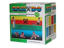 CanDo Latex Free Exercise Band-25 yard roll-Green-medium-1363726 10-5633 NEW