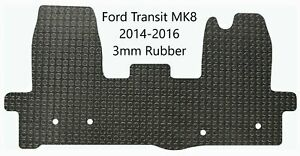 Ford Transit MK8 2014-2016 Tailored Black 3mm Rubber Van Mat Made 2 Order
