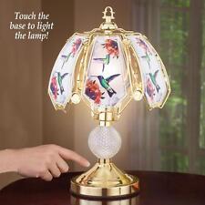 "Hummingbird Touch Lamp With Three Brightness Levels Glass Iron 16 1/2""H"